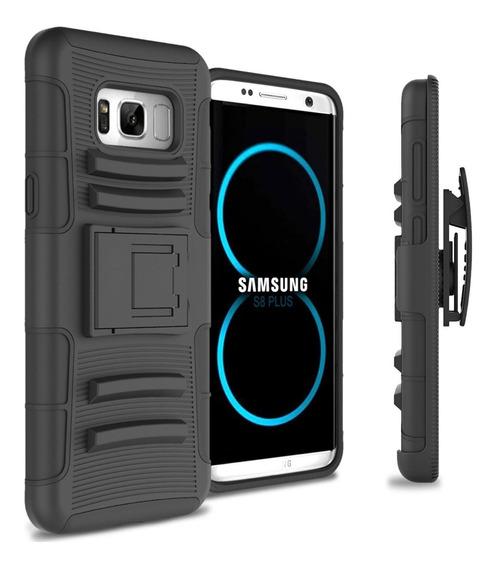 Funda Clip + Cristal Curvo Galaxy S6 S7 S8 S9 S10 Edge Plus