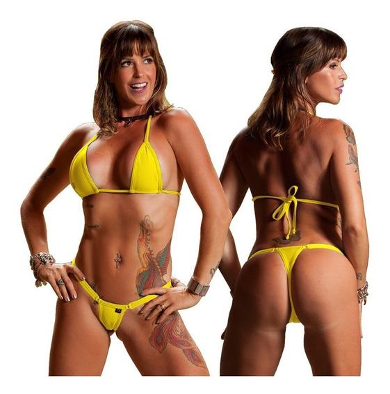 Bikinis Anna Carol Fio Dental Conj Micro-2 Cós Largo Fixo