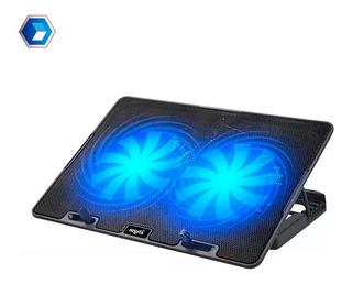Base Notebook Nisuta Ns Cn84 2 Fan Luz Reclinable Hasta 17