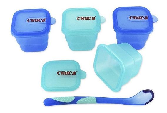 Kit De Alimentação Para Viagem Azul - Chuca Baby