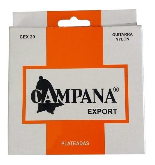 Set De Cuerdas Guitarra Clasica Campana Export Cex20