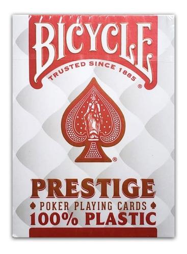 Imagem 1 de 4 de Baralho Bicycle Prestige Rider 100% Plástico - Cor Vermelho