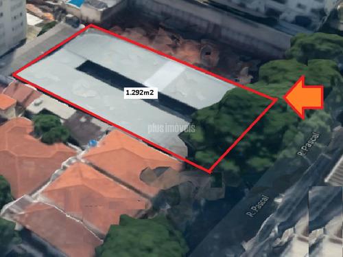Terreno De 1.292m2 Em Zona Mista No Campo Belo - Mi115332