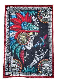 Tapestry Larva Cráneo Mensaje Colibrí Fosforescente Rave