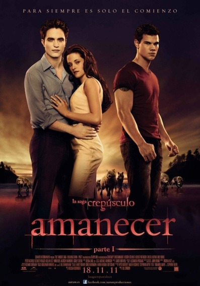 Poster Original Cine Amanecer ( Saga Crepúsculo)