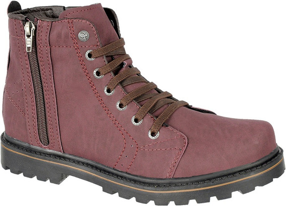Bota Coturno Casual Masculino Com Ziper Cr Shoes 9004