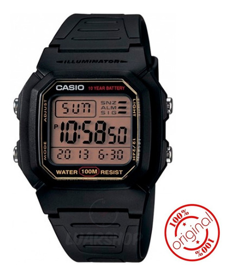 Relogio Casio Digital W800hg Serie Ouro Original C/ Caixa Nf
