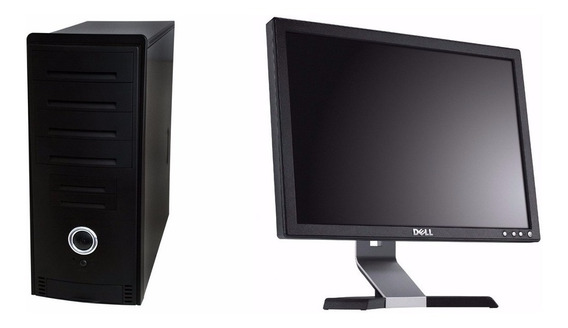 Cpu Nova Intel Dual Core 4gb Hd 500gb Dvd + Monitor Dell 15