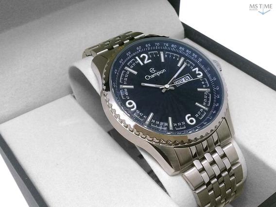 Relógio Champion Masculino Analógico Prata Visor Azul Ca31604f