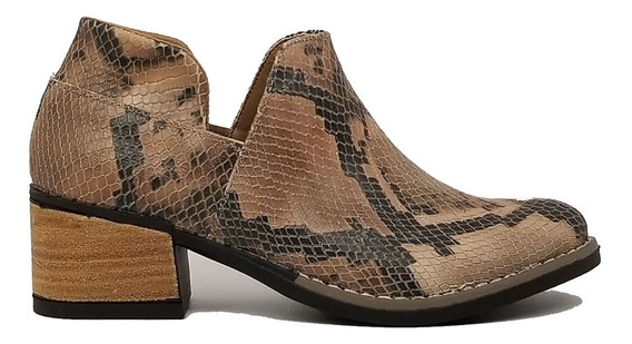 Botas Texanas Mujer Cuero Luz Zapatos Tibay Calzados