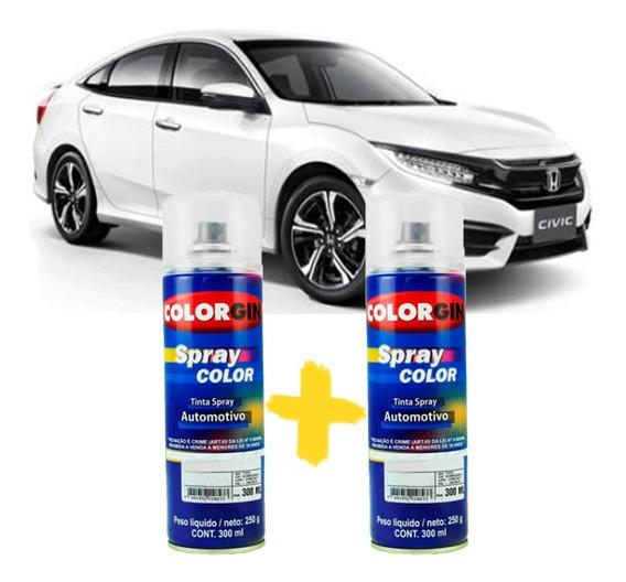 Tinta Spray Automotiva Honda Branco Estelar + Verniz 300ml