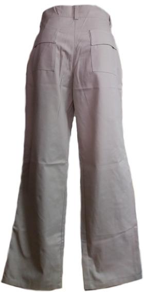 Pantalón Casual De Dama Color Beige Tela Drill