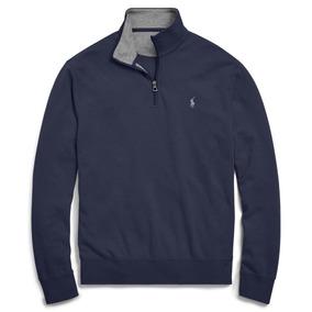 Casaco Polo Ralph Lauren Suéter Azul Original 12x Sem Juros