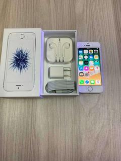 iPhone Se Silver 32gb En Buen Estado Con Caja Y Accesorios