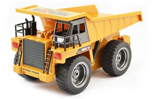 Metal Huina Coleccion Control Remoto / Camion Minero 1/18