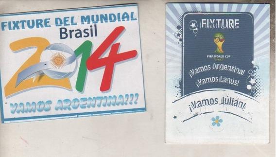 Lote De 2 Fixtures ** Mundial Brasil 2014 ** Sin Uso