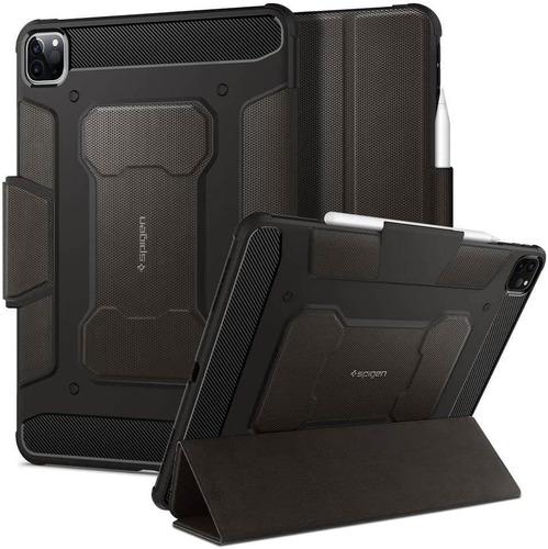 Imagen 1 de 6 de Funda Spigen Rugged Armor Pro iPad Pro 11 Porta Lapiz Gris
