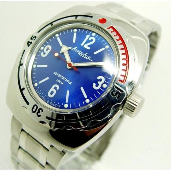 Reloj Amphibian Ruso Vostok Automatico 1967 Diver 200m