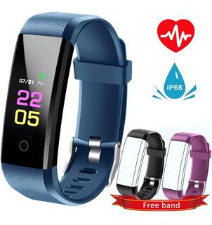 Smart Watch Reloj Azul Inteligente Ritmo Cardiaco Fitness