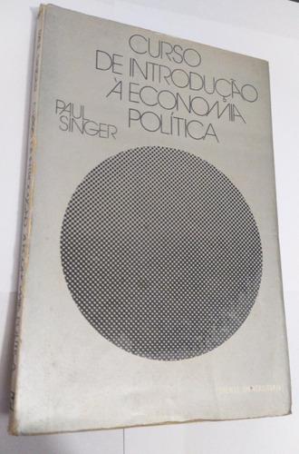 Livro Introdução À Economia Politica - Paul Singer