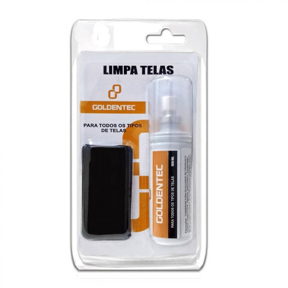 Limpa Telas Monitor Celular Notebook Televisão Goldentec 100