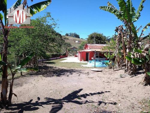 Ótima Chácara Com 03 Dormitórios, Pomar, Horta E Linda Vista, À Venda, 1500 M² Por R$ 250.000 - Rural - Socorro/sp - Ch0748