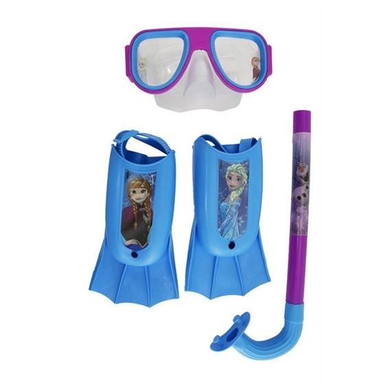 Kit Natação Infantil Snorkel Mascara De Mergulho Princesas