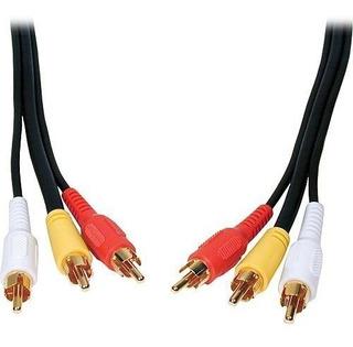 Cable 3 Rca 3 Rca Av Audio Vídeo 10 M Dvd Deco Ditron Gratis