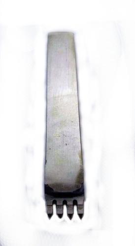 Herramienta Tenedor Marcador Puntadas Cuero 2 Mm 4 Dientes