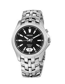 Relógio Masculino Seiko Calendário Perpétuo Preto/prata Aço