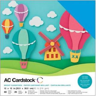 American Crafts Kit De Cardstock Kit Brights - 60 Folhas