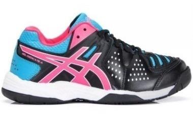 Tenis Asics Dedicate Feminino Preto/rosa/azul