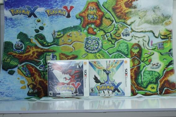 Edição Especial Pokémon X E Pokémon Y + Mapa Em Tecido