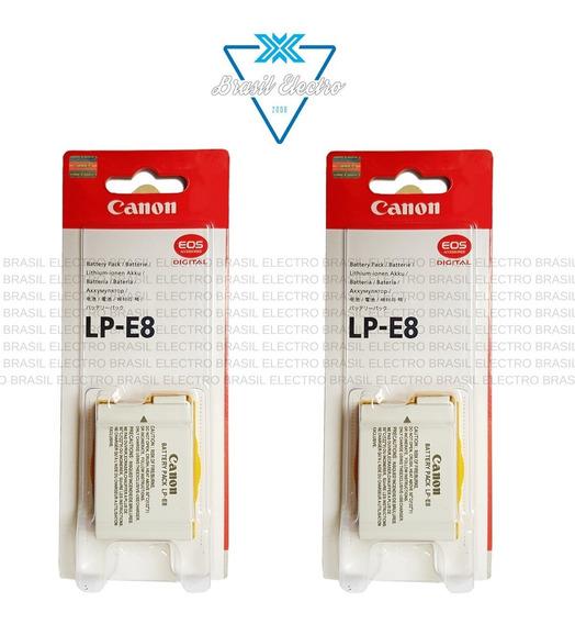 Kit 2 Baterias Canon Lp-e8 Lp E8 T2i T3i T5i Kiss X4 X5