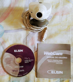 Pc Câmera Elgin Cvc-2100 Usb Webcam P/ Videoconferência