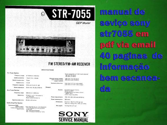 Serviço E Esquema Receiver Sony Str7055 Str 7055 Em Pdf