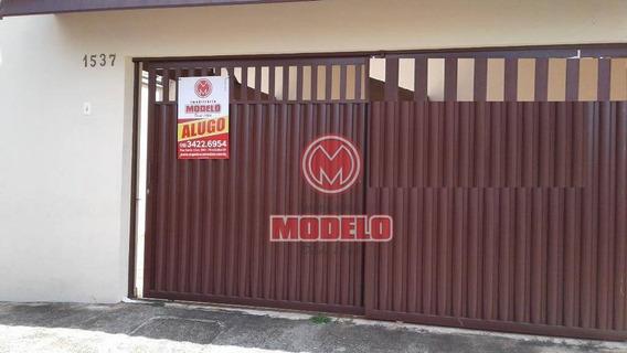 Casa Com 2 Dormitórios Para Alugar, 150 M² Por R$ 900,00/mês - Loteamento Santa Rosa - Piracicaba/sp - Ca1804