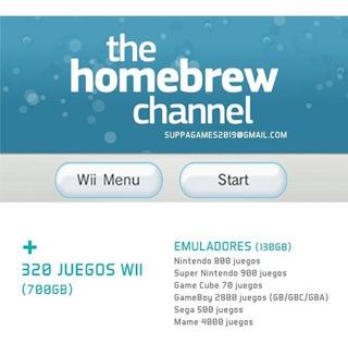 Disco Duro 500gb Wii Con Juegos (desbloqueada)-envío Gratis-