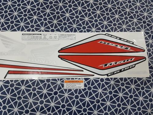 Kit Calcos  Honda Cg 150 2014 Titan Roja Excelentes Envios!