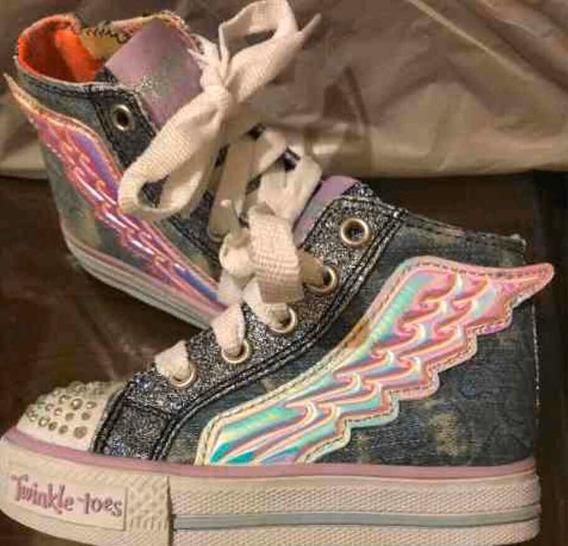 Zapatillas Con Luces Para Nena Skechers Importadas Ed.limit.