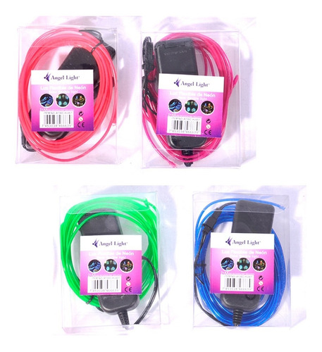 Cinta Led Neon Flexible Manguera 3 Metros Luz Avisos 4 Unid