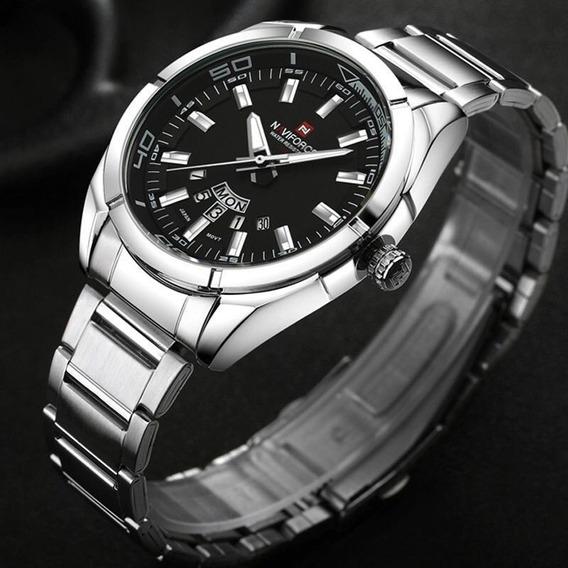 Relógio Masculino Naviforce Aço Inoxidável Esportivo Casual