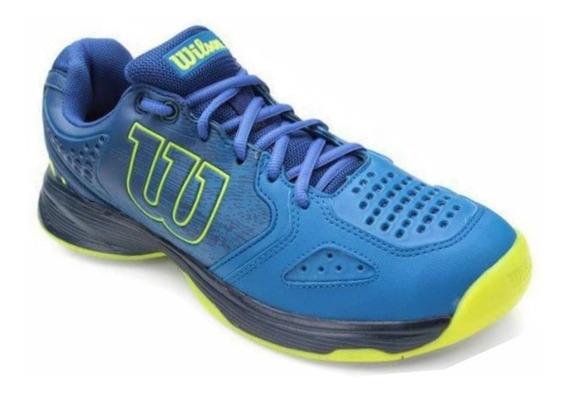 Tênis Para Jogar Tênis Wilson K Energy Azul E Verde Neon