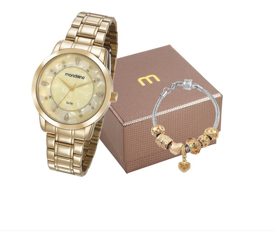 Kit Relógio Mondaine Feminino 83429lpmvde1k2