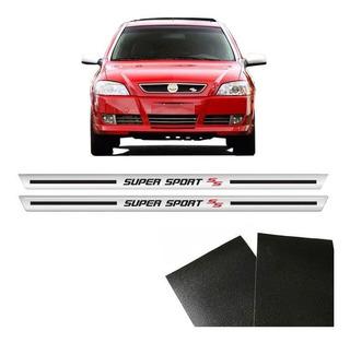 Kit Soleira Cromada Astra Super Sport 2 Portas Com Protetor