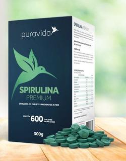 Spirulina Bigpack Puravida Tabletes Prensados Frio 300g Full