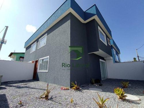Imagem 1 de 16 de Casa Com 3 Dormitórios À Venda, 100 M² Por R$ 320.000,00 - Verdes Mares - Rio Das Ostras/rj - Ca1225