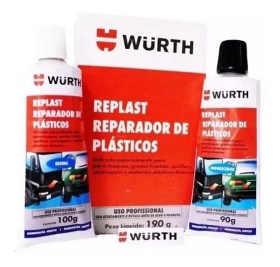 Replast Repara Solda Plastica Cola / Veda Para Choque Wurth