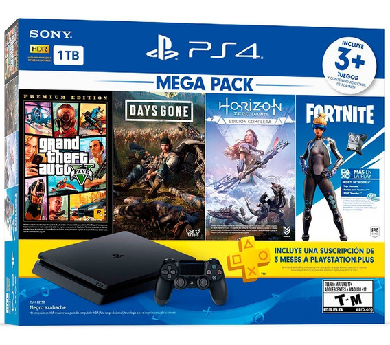 Consola Ps4 Slim 1tb Mega Pack Entrega Inmediata!!!!!!!