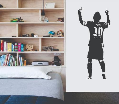 Imagen 1 de 2 de Vinil Decorativo Pared 58 X 130 Cms Messi Futbol Soccer